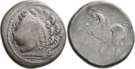 CENTRAL EUROPE. Noricum (West). Circa 2nd to 1st centuries BC. Tetradrachm (Silver, 25 mm, 11.00 g, 12 h), 'Samobor B' type. Wreathed and diademed mal...