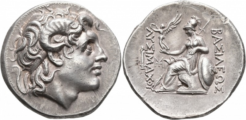 KINGS OF THRACE. Lysimachos, 305-281 BC. Tetradrachm (Silver, 31 mm, 16.94 g, 12...