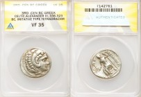 DANUBE REGION. Balkan Tribes. Imitating Alexander III the Great. Ca. 3rd-2nd centuries BC. AR tetradrachm (27mm, 10h). ANACS VF 35. Celtic issue imita...