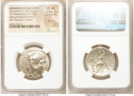 MACEDONIAN KINGDOM. Alexander III the Great (336-323 BC). AR tetradrachm (28mm, 17.12 gm, 11h). NGC Choice AU 3/5 - 4/5, die shift. Early posthumous i...