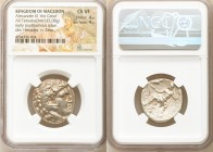 MACEDONIAN KINGDOM. Alexander III the Great (336-323 BC). AR tetradrachm (25mm, 17.08 gm, 2h). NGC Choice VF 4/5 - 4/5. Posthumous issue of uncertain ...
