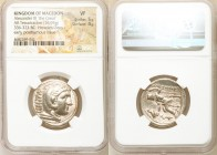 MACEDONIAN KINGDOM. Alexander III the Great (336-323 BC). AR tetradrachm (27mm, 16.95 gm, 9h). NGC VF 5/5 - 4/5. Posthumous issue of Amphipolis, under...