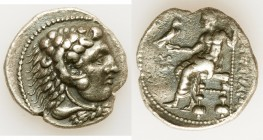 MACEDONIAN KINGDOM. Alexander III the Great (336-323 BC). AR tetradrachm (27mm, 16.47 gm, 9h). VF, edge chips. Early posthumous issue of Tyre, dated R...