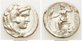 MACEDONIAN KINGDOM. Alexander III the Great (336-323 BC). AR tetradrachm (26mm, 17.12 gm, 3h). Choice VF, brushed, scratch. Lifetime issue of Tarsus, ...
