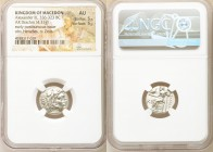 MACEDONIAN KINGDOM. Alexander III the Great (336-323 BC). AR drachm (17mm, 4.31 gm, 12h). NGC AU 5/5 - 5/5. Posthumous issue of Lampsacus, ca. 310-301...