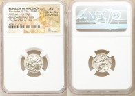 MACEDONIAN KINGDOM. Alexander III the Great (336-323 BC). AR drachm (18mm, 4.29 gm, 11h). NGC AU 5/5 - 4/5. Early posthumous issue of 'Colophon', 323-...