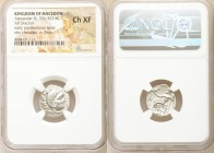 MACEDONIAN KINGDOM. Alexander III the Great (336-323 BC). AR drachm (17mm, 1h). NGC Choice XF. Posthumous issue of 'Colophon', 310-301 BC. Head of Her...