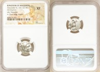 MACEDONIAN KINGDOM. Alexander III the Great (336-323 BC). AR drachm (16mm, 6h). NGC XF. Posthumous issue of Pamphylia, Side, ca. 323-317 BC. Head of H...