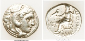 MACEDONIAN KINGDOM. Alexander III the Great (336-323 BC). AR drachm (16mm, 4.24 gm, 11h). VF. Early posthumous issue of Colophon, 319-310 BC. Head of ...