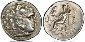 THRACIAN KINGDOM. Lysimachus (305-281 BC). AR drachm (19mm, 12h). NGC Choice XF. Lifetime issue of Colophon, ca. 301-297 BC. Head of Heracles right, w...