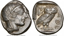 ATTICA. Athens. Ca. 440-404 BC. AR tetradrachm (25mm, 17.19 gm, 2h). NGC MS 5/5 - 3/5, brushed. Mid-mass coinage issue. Head of Athena right, wearing ...