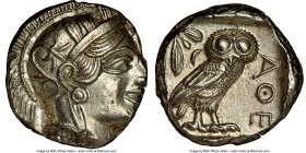 ATTICA. Athens. Ca. 440-404 BC. AR tetradrachm (24mm, 17.22 gm, 3h). NGC MS 4/5 - 4/5. Mid-mass coinage issue. Head of Athena right, wearing crested A...
