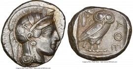 ATTICA. Athens. Ca. 440-404 BC. AR tetradrachm (25mm, 17.17 gm, 8h). NGC AU 5/5 - 2/5, Full Crest, brushed. Mid-mass coinage issue. Head of Athena rig...
