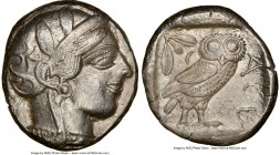 ATTICA. Athens. Ca. 440-404 BC. AR tetradrachm (24mm, 17.17 gm, 2h). NGC Choice XF 5/5 - 3/5. Mid-mass coinage issue. Head of Athena right, wearing cr...