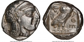 ATTICA. Athens. Ca. 440-404 BC. AR tetradrachm (24mm, 17.30 gm, 7h). NGC XF 4/5 - 3/5. Mid-mass coinage issue. Head of Athena right, wearing crested A...