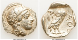 ATTICA. Athens. Ca. 440-404 BC. AR tetradrachm (28mm, 17.15 gm, 1h). XF. Mid-mass coinage issue. Head of Athena right, wearing crested Attic helmet or...