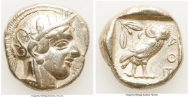 ATTICA. Athens. Ca. 440-404 BC. AR tetradrachm (25mm, 17.09 gm, 1h). Choice VF, brushed. Mid-mass coinage issue. Head of Athena right, wearing crested...