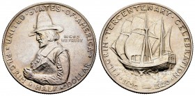 "United States. Half dollar. 1920. Philadelphia. (Km-147.1). Ag. 12,42 g.  III Centenary of ""PILGRIM"". Almost UNC. Est...80,00. 