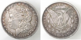 Monete Estere. USA. Dollaro Morgan 1893 Philadelphia. Ag. KM 110. Peso 26,65 gr. BB+. Colpi al bordo. R.