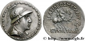BACTRIA - BACTRIAN KINGDOM - EUCRATIDES I Type : Tétradrachme  Date : c. 150 AC.  Mint name / Town : Bactres, Bactriane  Metal : silver  Diameter : 34...