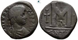 Justin I AD 518-527. From the Tareq Hani collection. Antioch. Follis or 40 Nummi Æ