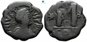 Justin I AD 518-527. From the Tareq Hani collection. Constantinople. Follis or 40 Nummi Æ
