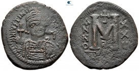 Justinian I AD 527-565. From the Tareq Hani collection. Theoupolis (Antioch). Follis or 40 Nummi Æ
