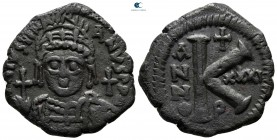 Justinian I AD 527-565. From the Tareq Hani collection. Theoupolis (Antioch). Half Follis or 20 Nummi Æ