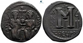 Justin II and Sophia AD 565-578. From the Tareq Hani collection. Theoupolis (Antioch). Follis or 40 Nummi Æ