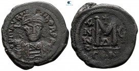 Maurice Tiberius AD 582-602. From the Tareq Hani collection. Constantinople. Follis or 40 Nummi Æ