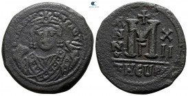 Maurice Tiberius AD 582-602. From the Tareq Hani collection. Theoupolis (Antioch). Follis or 40 Nummi Æ