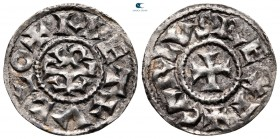 Charles the Bald, King of West Francia AD 843-877. Metallum (Melle). Denier AR