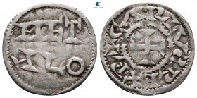 Charles the Simple. As Charles IV, King of West Francia AD 898-922. Metallum (Melle). Denier AR