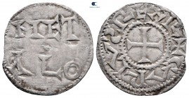 Charles the Simple. As Charles IV, King of West Francia AD 898-922. Metallum (Melle) mint. Denier AR
