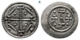 AD 1204-1301. Time of Ladislaus III to Andreas IV. Denár AR
