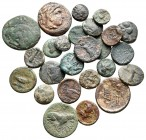Lot of ca. 25 greek bronze coins / SOLD AS SEEN, NO RETURN!very fine