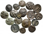 Lot of ca. 18 greek bronze coins / SOLD AS SEEN, NO RETURN!very fine