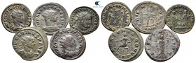 Lot of ca. 5 roman coins (Aurelian, Diocletian, Maximianus Herculius, Carinus and Tacitus) / SOLD AS SEEN, NO RETURNvery fine