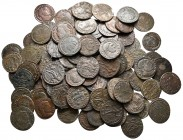 Lot of ca. 100 roman bronze coins / SOLD AS SEEN, NO RETURN!very fine