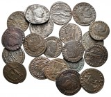 Lot of ca. 20 roman bronze coins / SOLD AS SEEN, NO RETURN! very fine