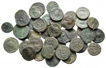 Lot of ca. 40 roman bronze coins / SOLD AS SEEN, NO RETURN!very fine