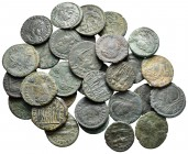 Lot of ca. 30 roman bronze coins / SOLD AS SEEN, NO RETURN!very fine