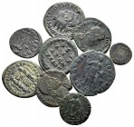 Lot of ca. 9 roman bronze coins / SOLD AS SEEN, NO RETURN!very fine