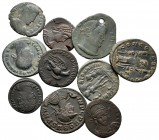 Lot of ca. 10 roman bronze coins / SOLD AS SEEN, NO RETURN!nearly very fine