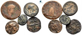 Lot of ca. 5 ancient bronze coins / SOLD AS SEEN, NO RETURN!fine