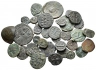 Lot of ca. 35 byzantine bronze coins / SOLD AS SEEN, NO RETURN!nearly very fine