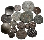 Lot of ca. 17 byzantine bronze coins / SOLD AS SEEN, NO RETURN!nearly very fine