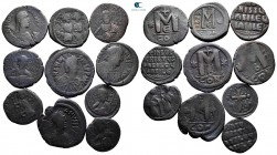 Lot of ca. 10 byzantine bronze coins / SOLD AS SEEN, NO RETURN!nearly very fine
