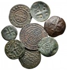 Lot of ca. 8 medieval bronze coins / SOLD AS SEEN, NO RETURN!nearly very fine