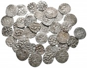 Lot of ca. 38 medieval silver coins / SOLD AS SEEN, NO RETURN!very fine